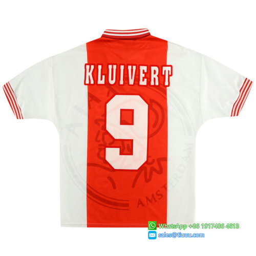 Ajax 1995/96 Home Retro Jersey #9 Kluivert