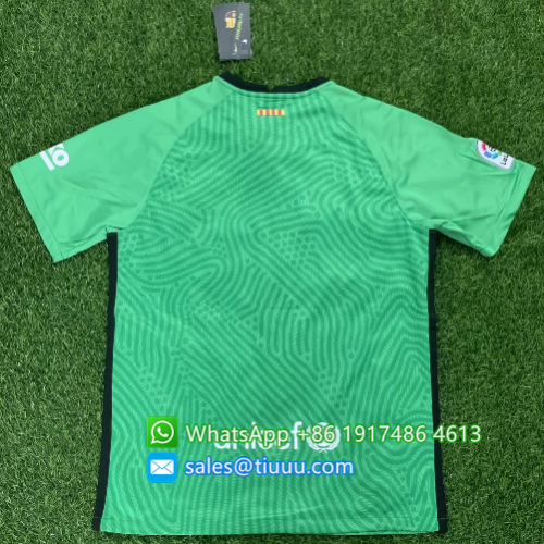 Thai Version Barcelona 20/21 Goalkeeper Soccer Jersey