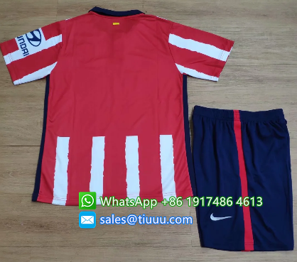 Atletico Madrid 20/21 Home Soccer Jersey and Short Kit