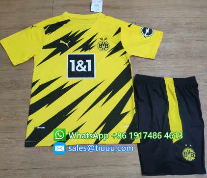 Borussia Dortmund 20/21 Home Soccer Jersey and Short Kit