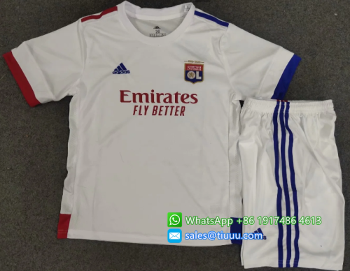 Olympique Lyonnais 20/21 Kids Home Soccer Jersey and Short Kit