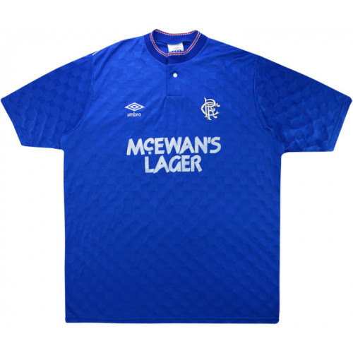 Rangers 1987/1990 Home Retro Soccer Jersey
