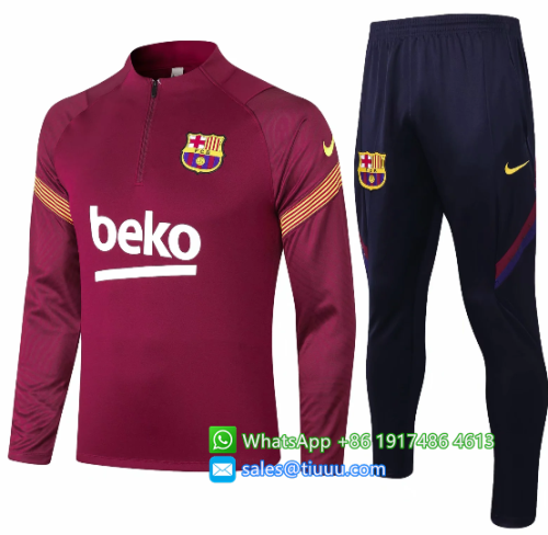 Barcelona 20/21 Soccer Training Top and Pants-B404