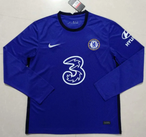 Thai Version Chelsea 20/21 Home LS Soccer Jersey