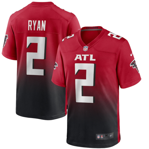 Men's Atlanta Falcons Matt Ryan Red 2nd Alternate Game Jersey