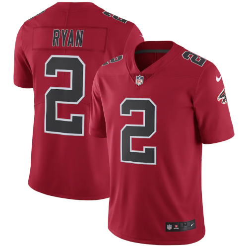 Men's Atlanta Falcons Matt Ryan Red Vapor Untouchable Color Rush Limited Player Jersey