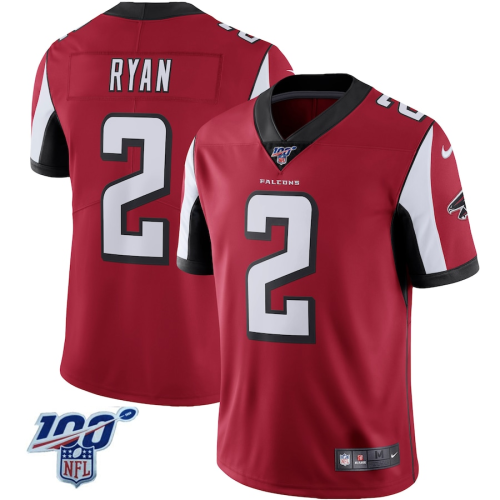 Men's Atlanta Falcons Matt Ryan Red 100 Vapor Limited Jersey