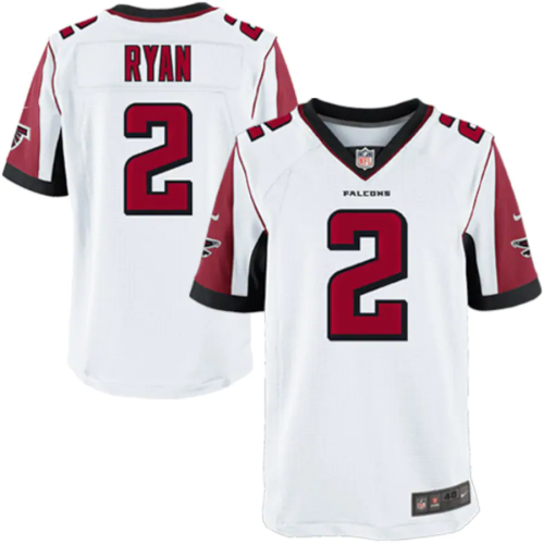 Mens Atlanta Falcons Matt Ryan White Game Jersey