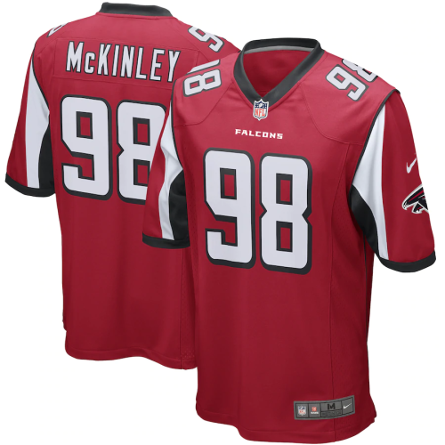 Men's Atlanta Falcons Takkarist McKinley Red Game Jersey
