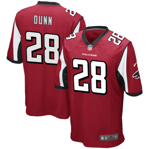 Men's Atlanta Falcons Warrick Dunn Red Retired Player Game Jersey