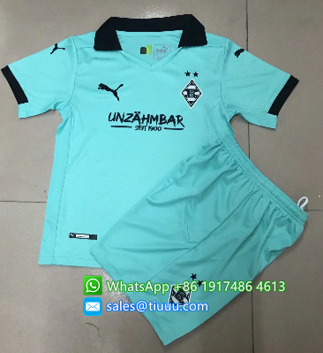 Monchengladbach 20/21 Kids Soccer Jersey and Short Kit -Blue