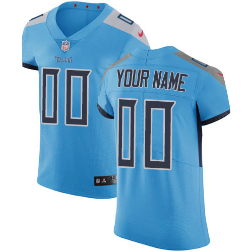 Men's Tennessee Titans Light Blue Custom Elite Jersey