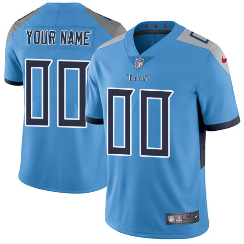 Men's Tennessee Titans Light Blue Custom Limited Jersey