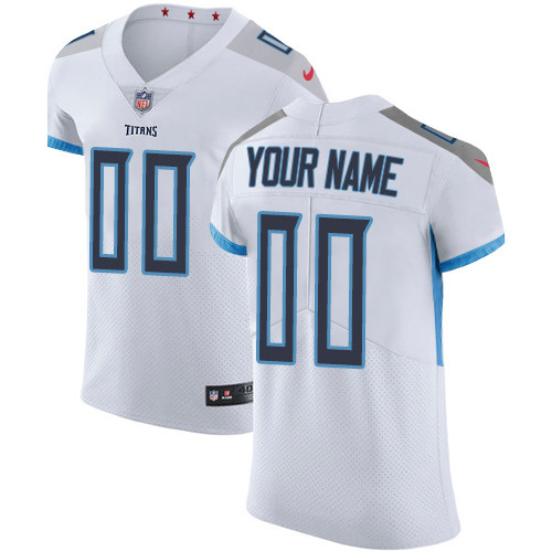 Men's Tennessee Titans White Customized Elite Jersey