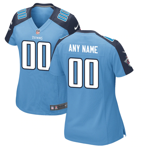 Women's Tennessee Titans Light Blue Custom Alternate Jersey
