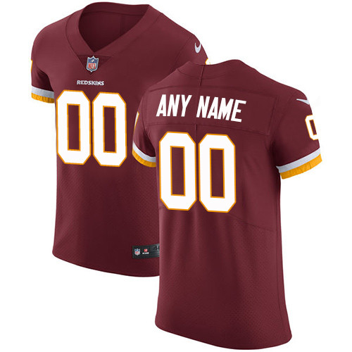 Men's Washington Redskins Burgundy Customized Elite Jersey