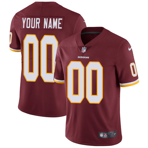 Youth Washington Redskins Burgundy Customized Game Jersey