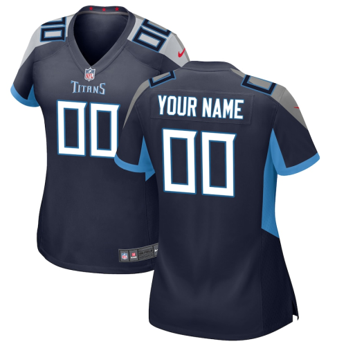 Women's Tennessee Titans Navy Customized Game Jersey