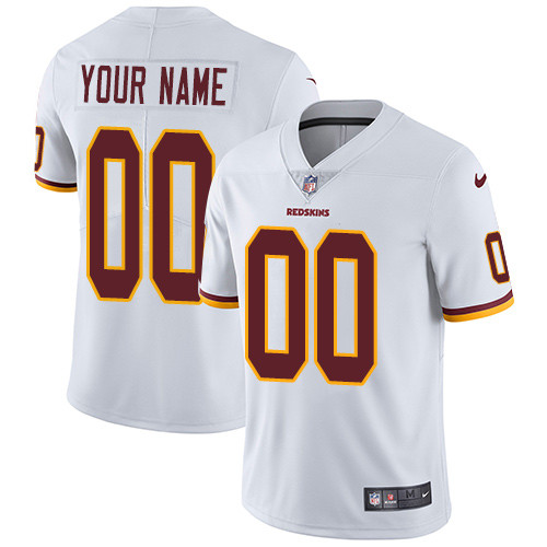 Men's Washington Redskins White Custom Limited Jersey