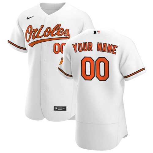 Men's Baltimore Orioles White 2020 Home Authentic Custom Jersey
