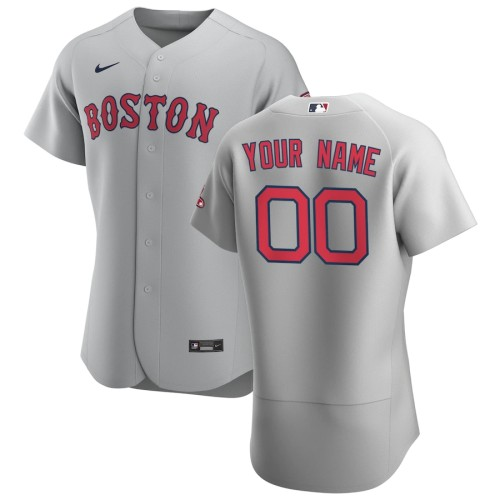 Men's Boston Red Sox Gray 2020 Road Authentic Custom Jersey
