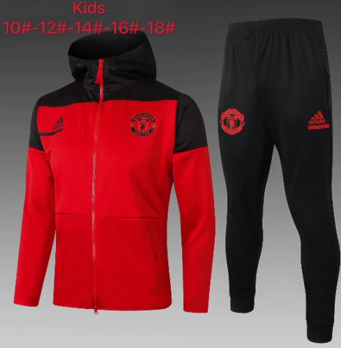 Manchester United 20/21 Kids Hoodie and Pants - E501