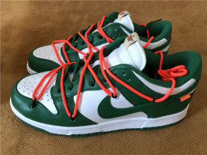 Authentic OFF-WHITE x Nike Dunk Low Green