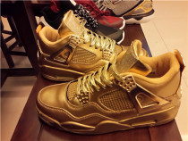 Authentic air jordan 4 Gold