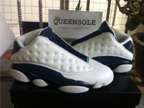 Authentic air jordan 13 low WHT/MTLLC SLVR