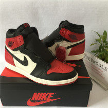 "Authentic AJ1 ""Bred Toe"""
