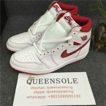 "Authentic Air Jordan 1 OG High ""Metallic Red"""