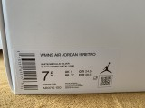 Authentic Air Jordan 11   White/Metallic Silver