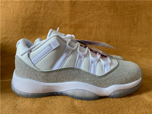 "Authentic Air Jordan 11 WMNS ""Metallic Silver"""