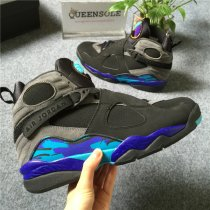 Authentic air jordan 8 All-star black and purple