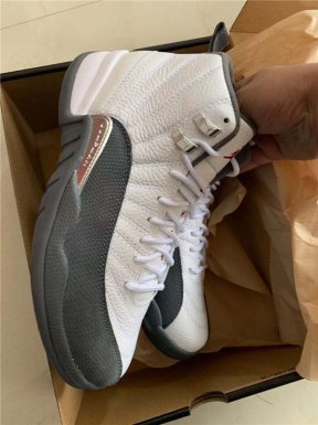 "Authentic Air Jordan 12 ""Dark Grey"" GS"