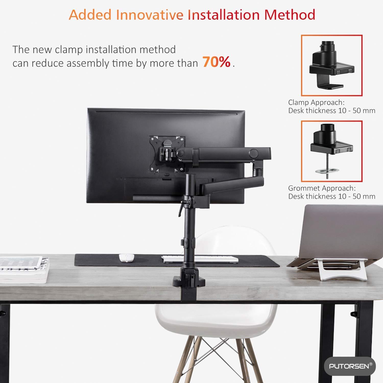 4 H/öhe Stabiler Bildschirmst/änder Airflow Mesh Platform f/ür Monitor Drucker PUTORSEN/® Premium Monitorst/änder Laptop Beamer und Computer bis zu Einem Gewicht von 20 kg
