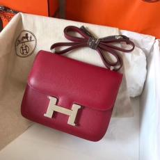 high replica hermes constance cowhide leather crossbody bag large small size pure hand--mand wax thread sewing multicolor for option