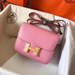 high quality  hermes constance replica crossbody bag  pure hand-made wax thread sewing with EPSON leather gold hardware