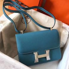 hermes constance clamshell crossbody small square  bag EPSON leather  dusty-free multicolor for option