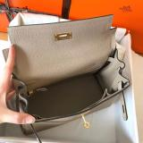 hermes high-quality kelly28 replica top-handle bag in Togo leather large-capacity lightweight
