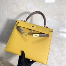 real shot hermes kelly replica bag handbag EPSON leather lightweight dirty-free pure hand-made wax thread stiching