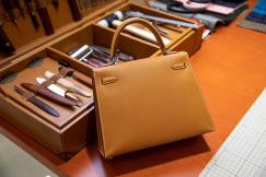 high quality hermes replica kelly bagplain  top-handle bag in EPSON leather  dirty-free scratch-proof pure hand-made wax thread sewing