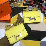 high quality hermes constance replica crossbody shoulder bag silver hardware EPSON leather pure hand-made stiching