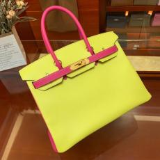 high quality hermes birkin30 replica handbag crossbody in EPSON leather pure  hand-made wax-thread stiching