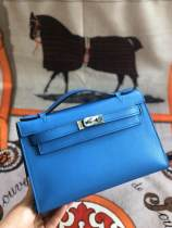 real shot hermes mini kelly20 replica high quality crossbody top-handle bag in swift leather silver and golden hardware pur hand-made wax-thread sewing
