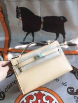high quallity hermes mini kelly20 replica crossbody handbag in swift leather silver and aureate hardware