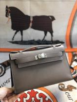 dark brown hermes mini kelly20 replica crossbody handbag in swift leather aureate hardware