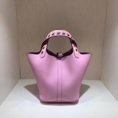 Hermes picotin18/22 lock replica shoulder bag handbag aureate hardware in EPSON  leather pure hand-made wax-thread stiching