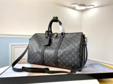M40569 Louis Vuitton/LV keeppal45 monogram travelling tote bag large multi-purpose lightweight silver hardware