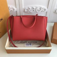 M54569 Louis vuitton/LV  lockmeto tassel triple-department tote shopping bag handbag in pebbled cowhide leather silver hardware